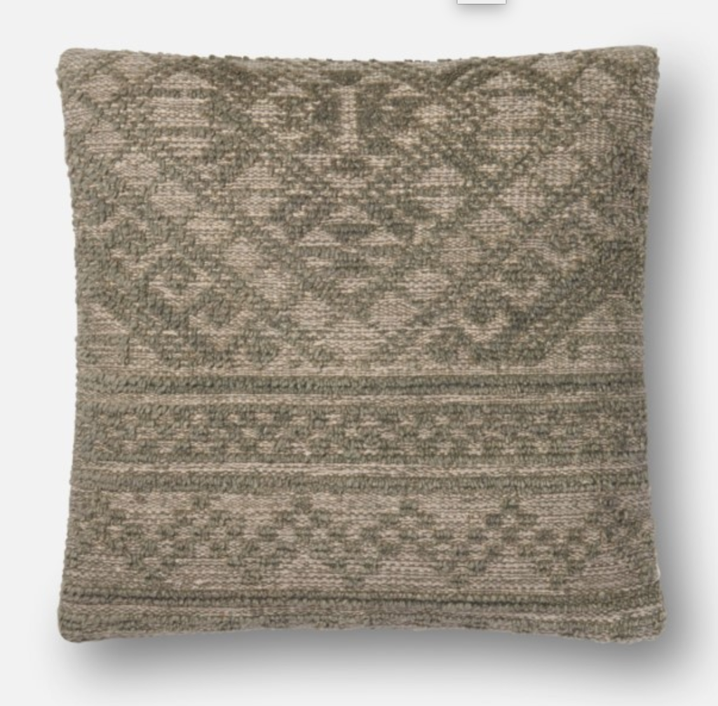 Moss Handwoven Pillow 22x22