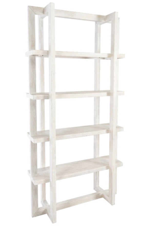"Sydney Bookcase 96"" White - Amethyst Home"