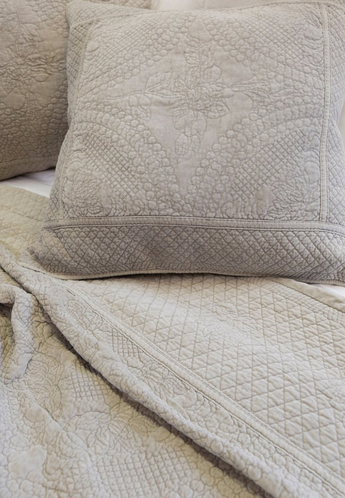 Marseille Coverlet Bedding Taupe - Amethyst Home