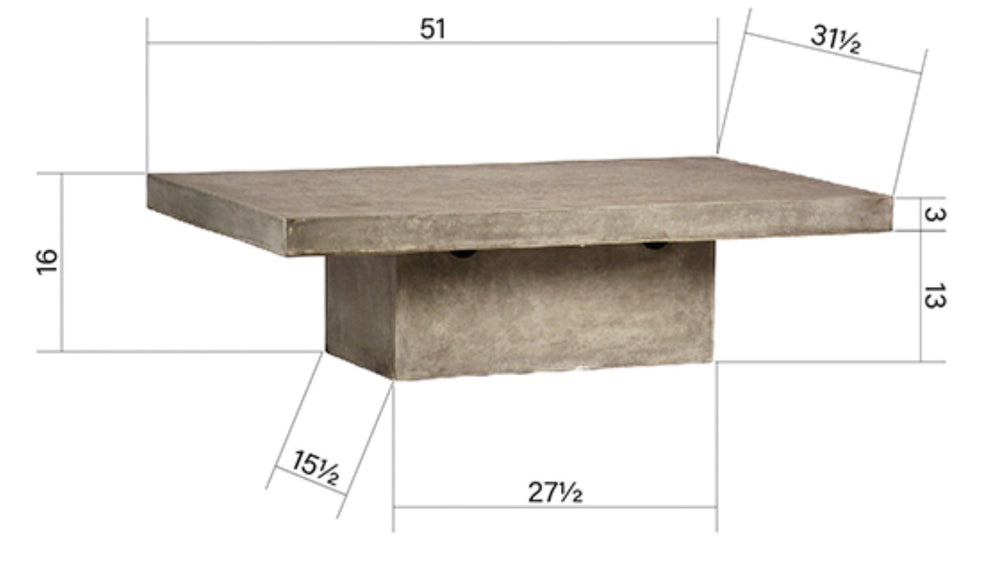 Chandler Rectangle Coffee Table - Amethyst Home