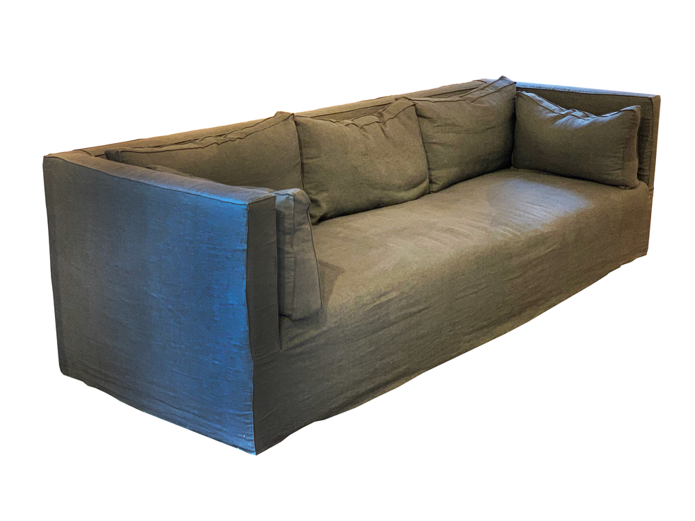 Bench-crafted with a sustainably harvested hardwood frame and 8-way hand-tied seat construction, the Lawrence Sofa Family by Verellen offers unique style and uncompromising comfort.  Standard features include:  soy based poly/down wrap boxed loose seat cushion boxed back and arm pillows