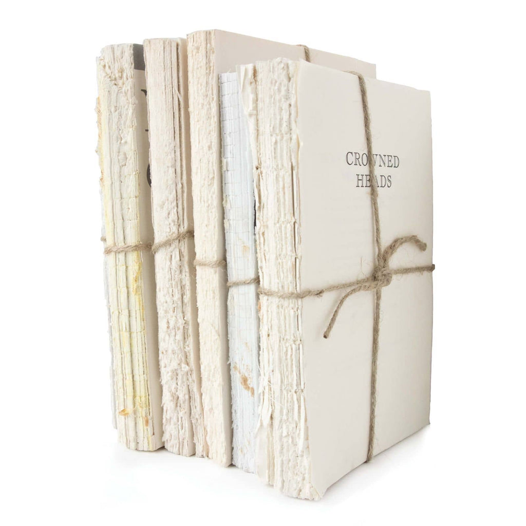 "We love the natural, vintage look of this Vintage Unbound Book Set. Place on your bookshelf, office, or coffee table and complete transform the look and feel of the space.   Overall size: 10""w x 18""d x 11""h Material: Jute Rope Finish: Natural"