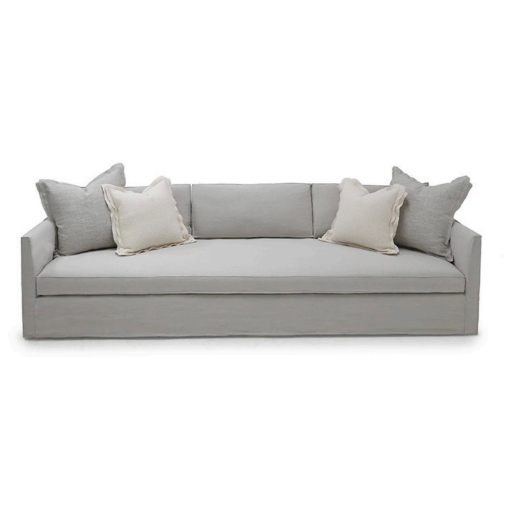 The Thibaut Condo Sofa by Verellen is truly something you could lounge on all day. The 8-way hand-tied seat construction with a spring down or tight seat cushion make this comfortable on any spot on the sofa.  The Thibaut collection is available longer (such as a sectional) and shorter (such as a loveseat) for a perfect fit in any spot in the home. We can custom tailor your sofa with an array of fabrics, wood finish, and more to fit your style!