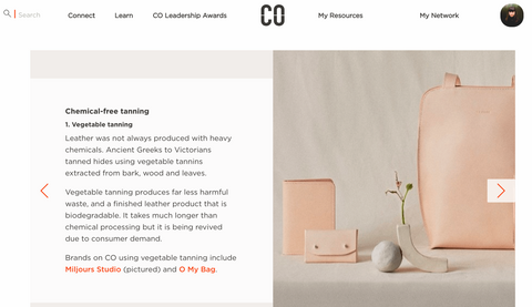 Miljours studio on commune objective for ethical leather guide