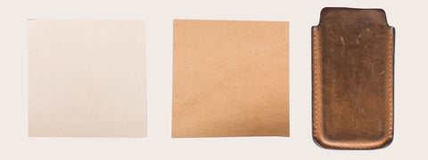 Vegetable tanned leather - different colours