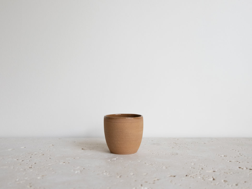 TERRACOTTA COFFEE CUP 3 OZ | CHAMPAGNE CERAMIQUE
