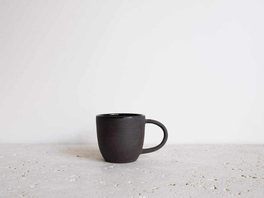 DARK BROWN COFFEE CUP 6 OZ | CHAMPAGNE CERAMIQUE