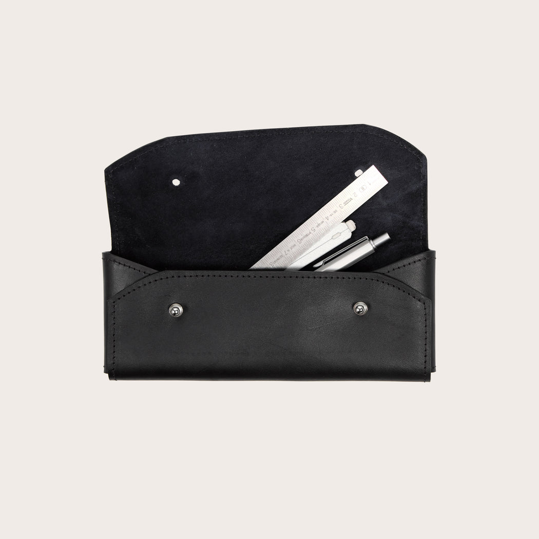 Miljours Studio - Black leather pencil case