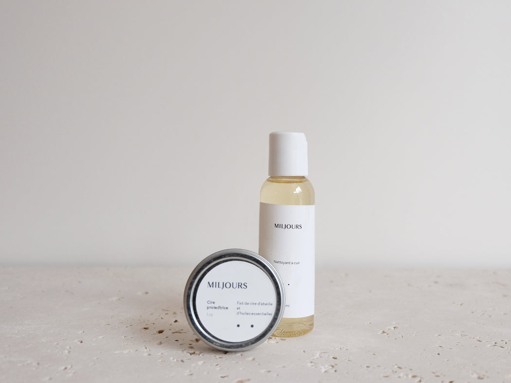 LEATHER CARE SOAP + WAX CLEANER (KIT) | MILJOURS STUDIO