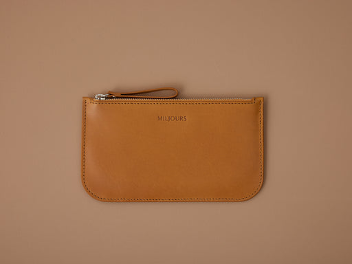 MUSTARD WALLET WITH ZIP