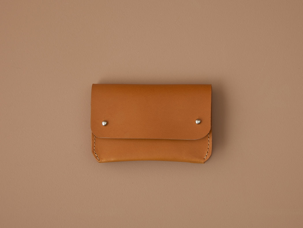 MUSTARD LEATHER CARD WALLET