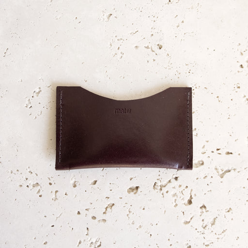 BURGUNDY ALMOST PERFECT CARD HOLDER