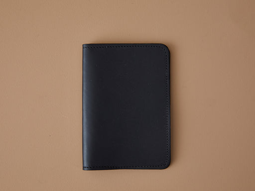 BLACK LEATHER PASSPORT WALLET | MILJOURS STUDIO