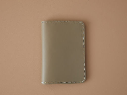 TAUPE LEATHER PASSPORT WALLET