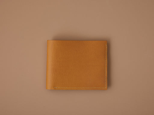 MUSTARD LEATHER BI-FOLD WALLET