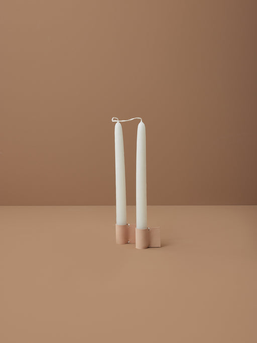 NUDE LEATHER TAPER HOLDER | MILJOURS STUDIO