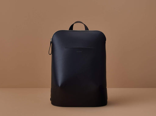 BLACK LEATHER BACKPACK | MILJOURS STUDIO