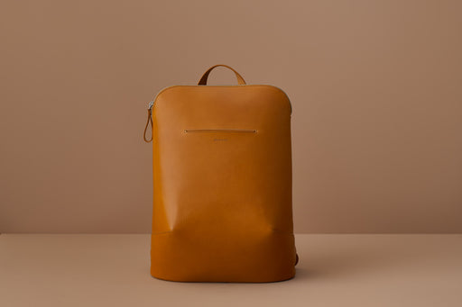MUSTARD LEATHER BACKPACK | MILJOURS STUDIO