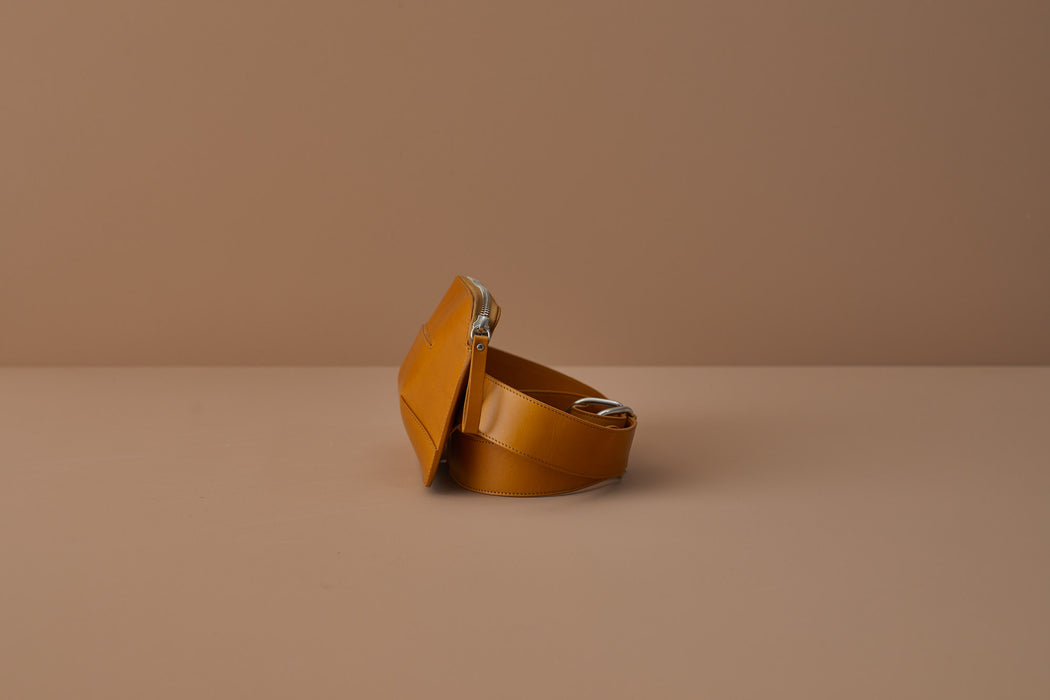 MUSTARD LEATHER BELT BAG | MILJOURS STUDIO