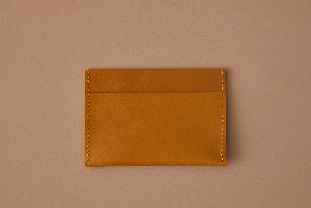 MUSTARD LEATHER SIMPLE WALLET | MILJOURS STUDIO