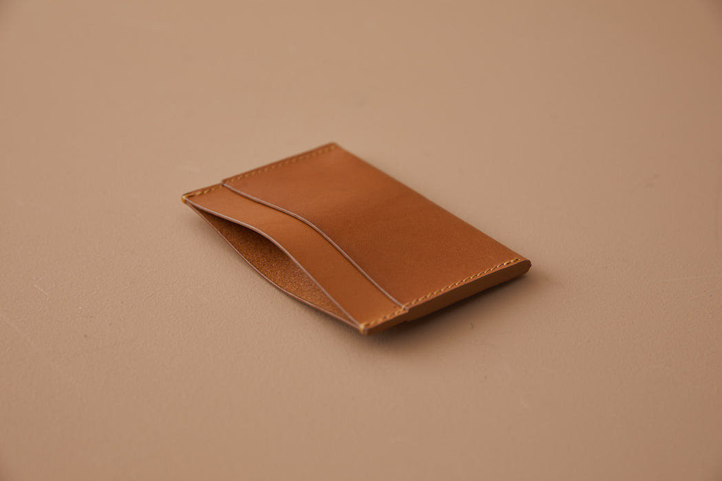 SIENNA LEATHER SIMPLE WALLET | MILJOURS STUDIO
