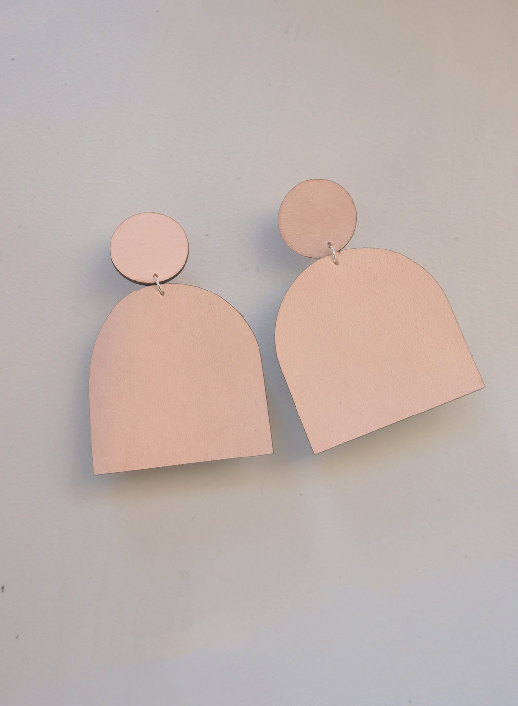 Blush leather earrings | Miljours Studio