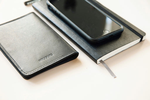 Black Leather Passport Holder | MÜLLER