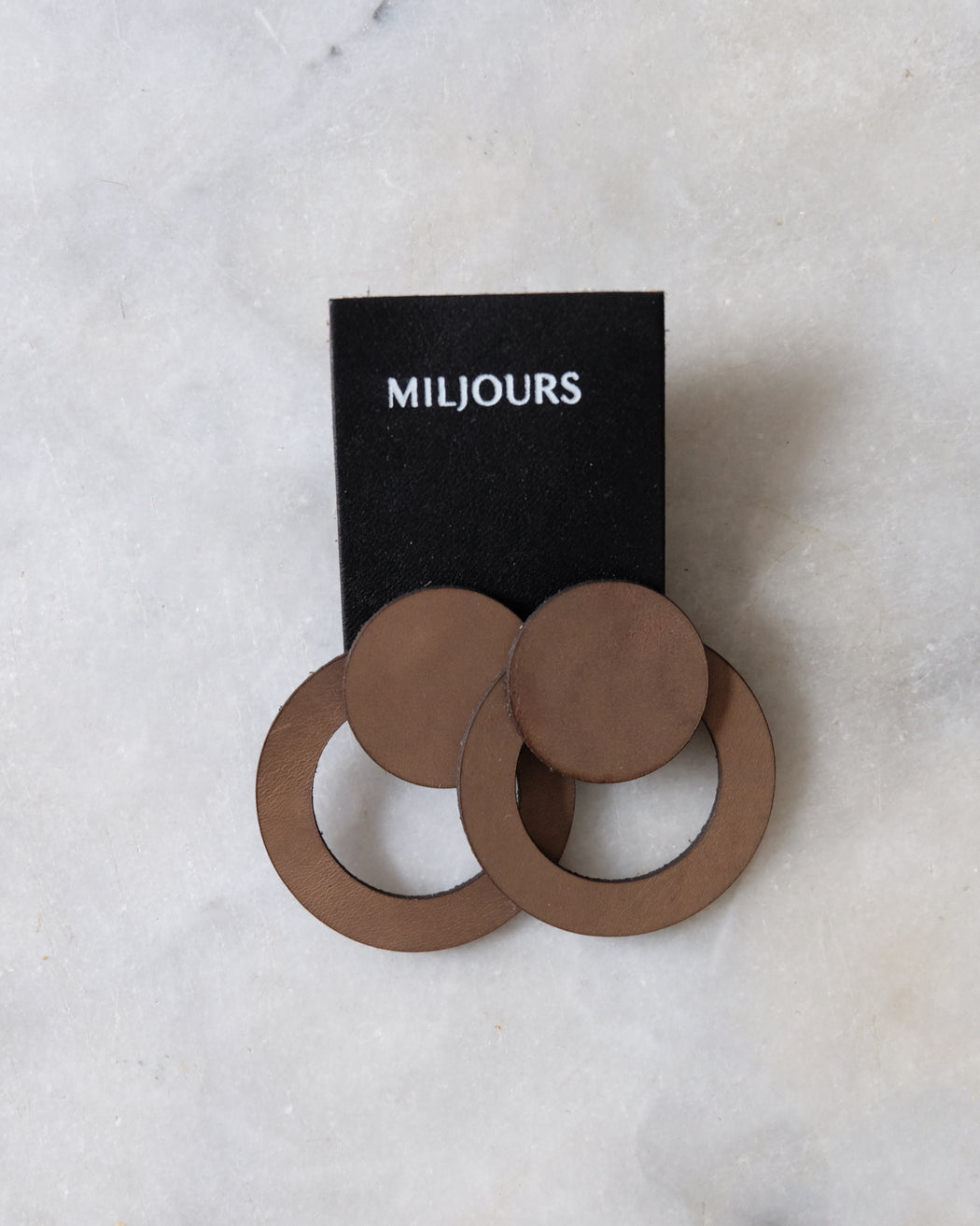 LEATHER EARRINGS | MILJOURS STUDIO