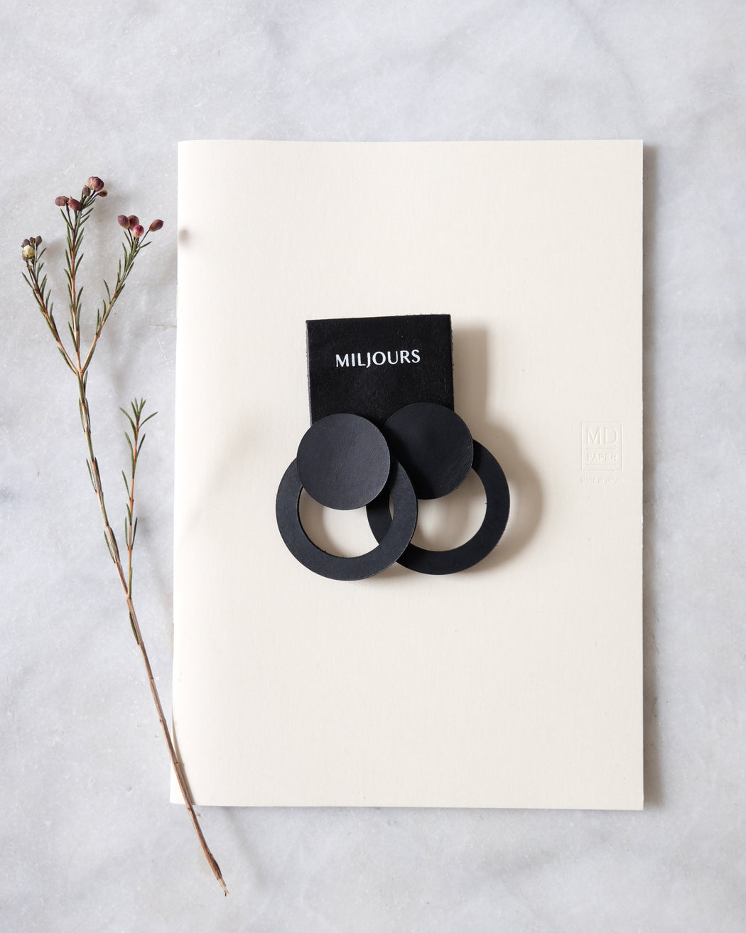 Leather Earrings | NOA BLACK