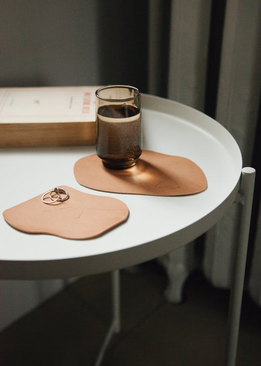 BLOSS Leather coasters