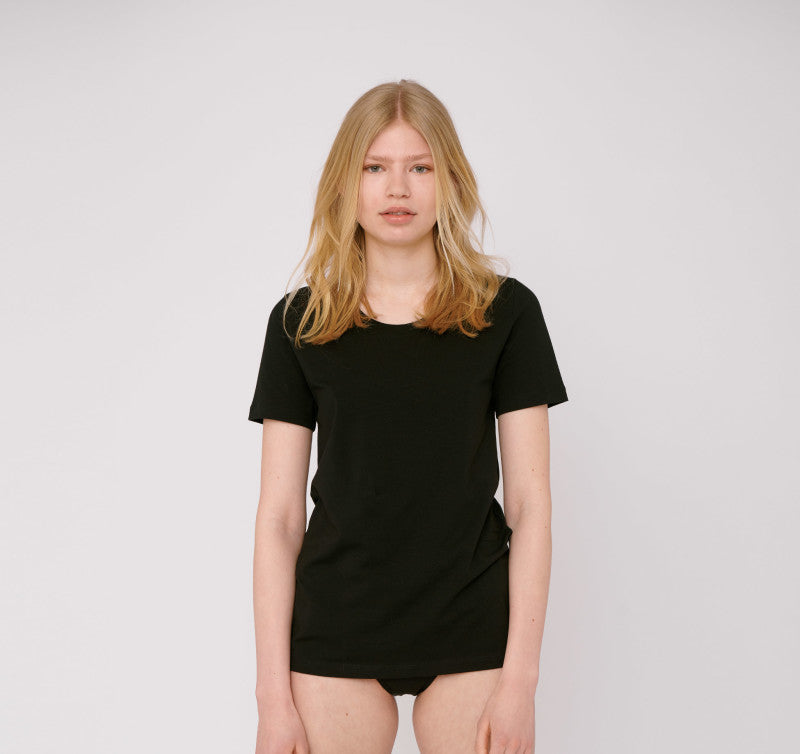 BLACK ORGANIC COTTON TEE | ORGANIC BASICS