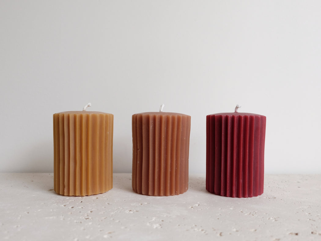 FLUTED PILLARD CANDLES | THE WAX STUDIO