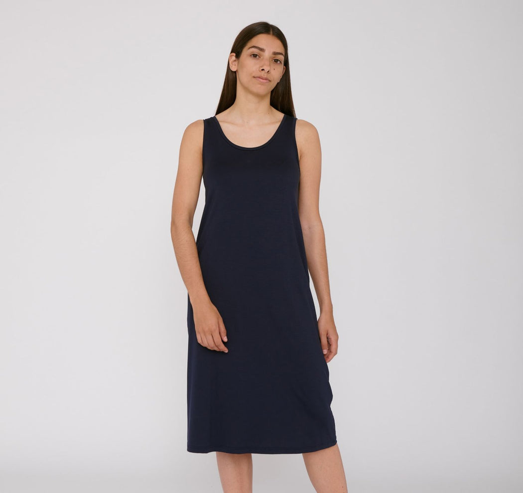BLACK TENCEL™ LITE DRESS | ORGANIC BASICS