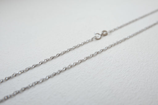 Sterling Silver Singapore Chain 16""