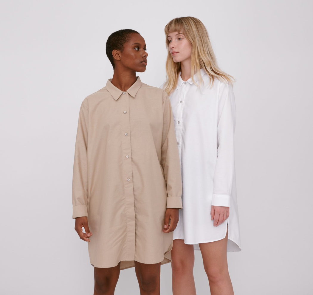 CLAY ORGANIC COTTON OXFORD LONG SHIRT