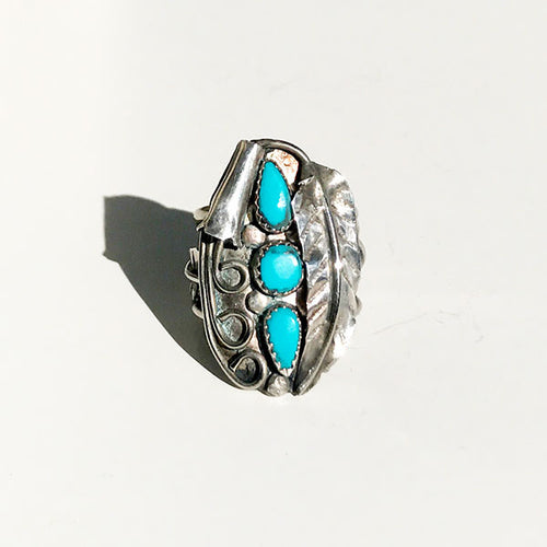 3 Turquoise Ring
