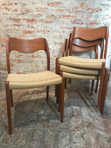 Niels O. Møller Model 71 Set of 8 Dining Chairs