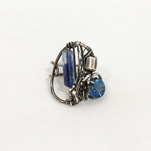 Kyanite and Blue Topaz Ring