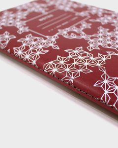 Grid Notebook, Red Asanoha