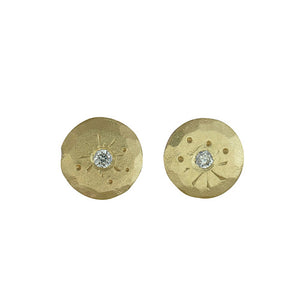 Mini Treasure Coin Diamond Studs
