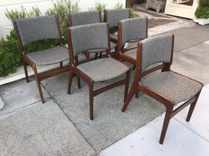 Erik Buch set of 6 Dining Chairs