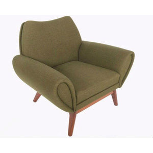 Johannes Andersen Lounge Chair in Olive