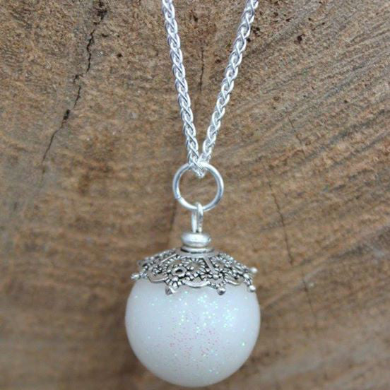 Globe pendant - Rejewelled: Breastmilk, DNA and Keepsake Jewellery
