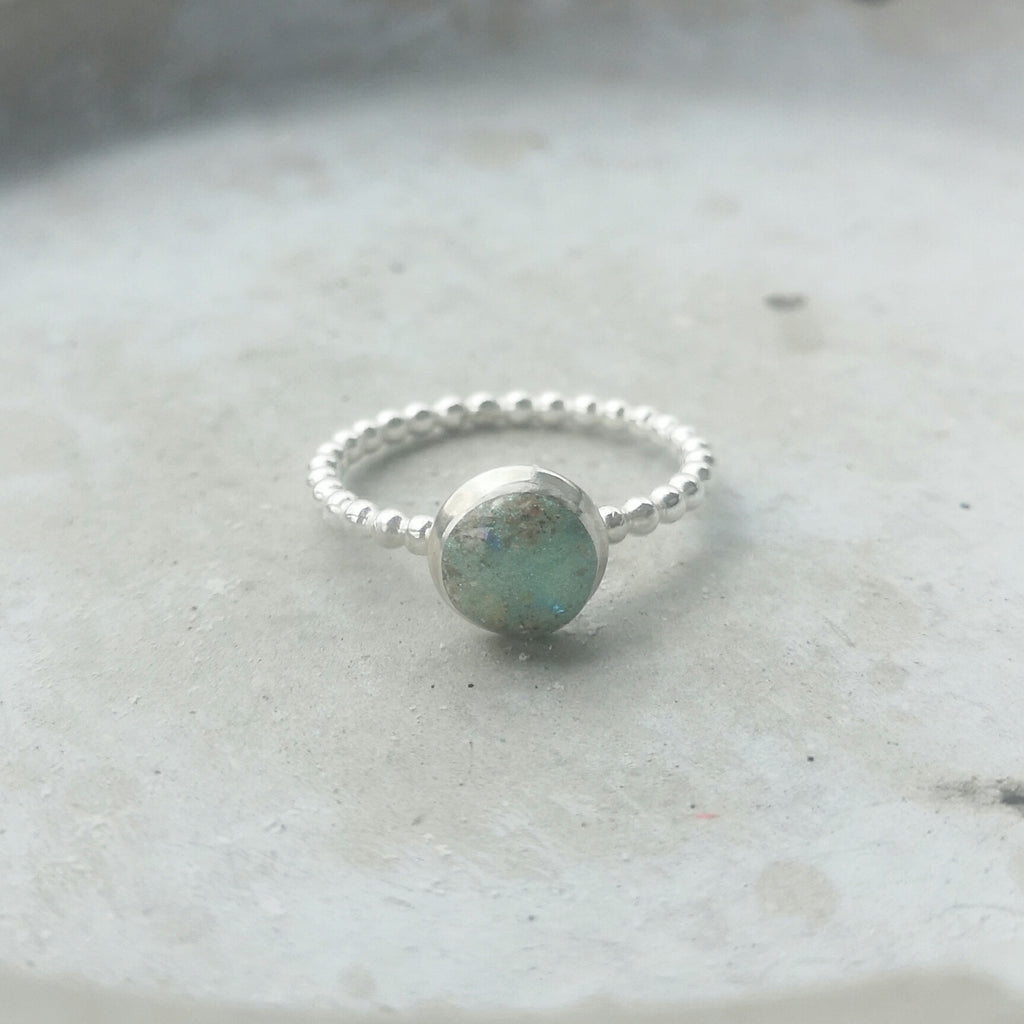 Beaded Band Stacking Ring