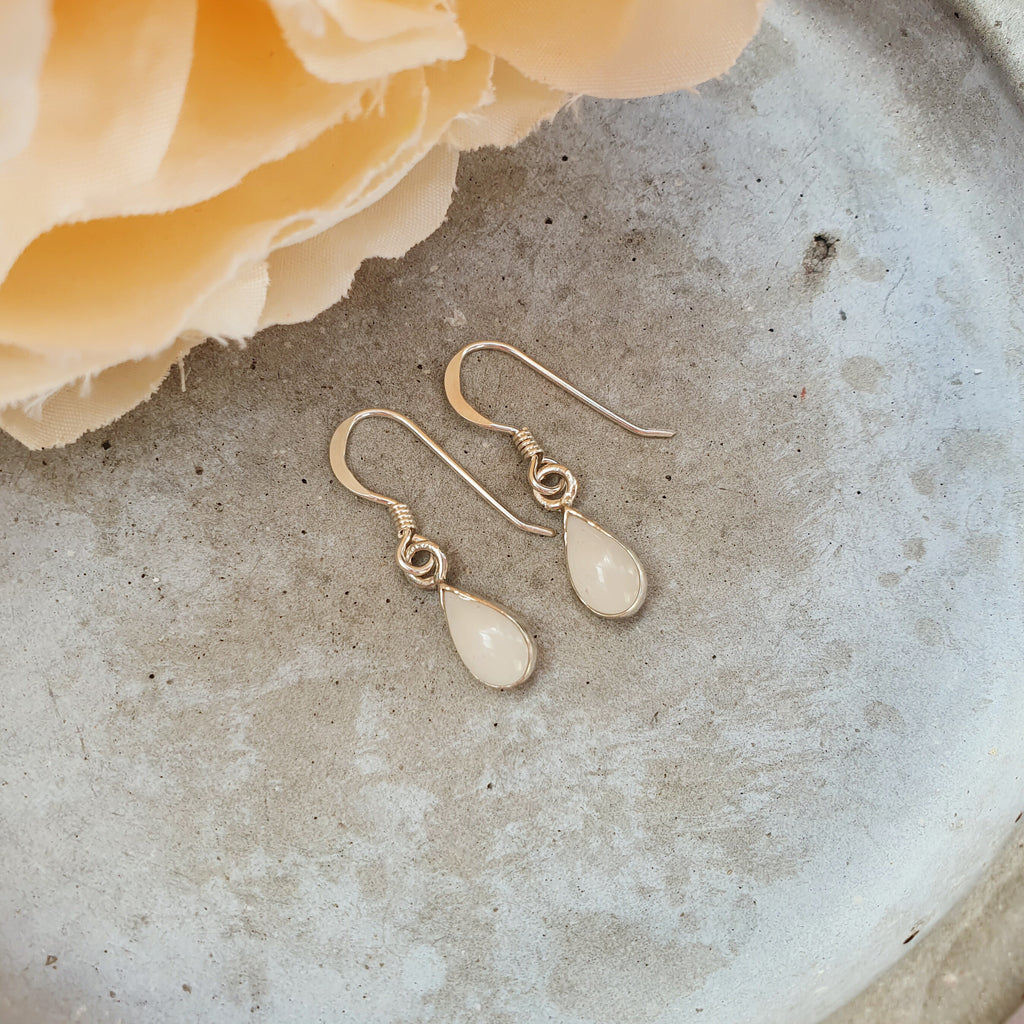 Milk Drop Earrings