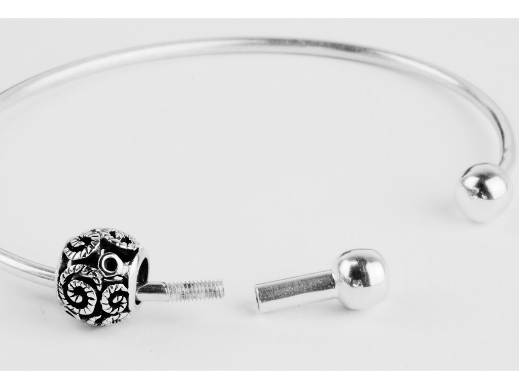 Screw End Bangle for Charms