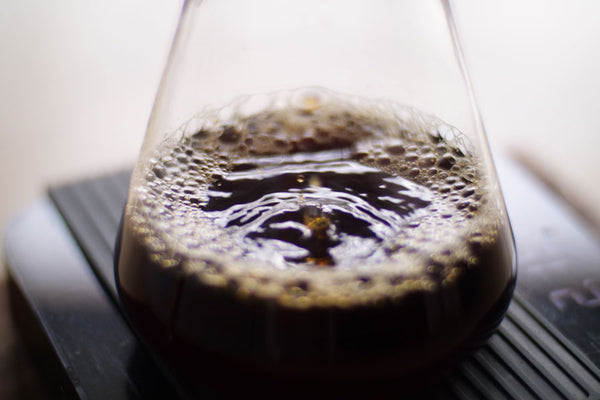 Chemex brewed coffee