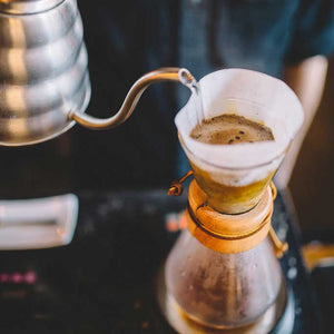 Chemex coffee brewing