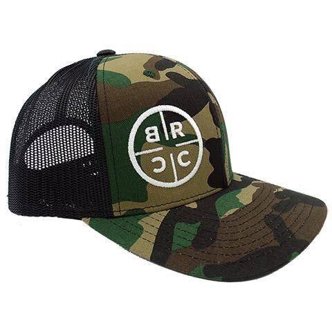 BRCC Trucker Hat - Camo with Black mesh - Camo with Black