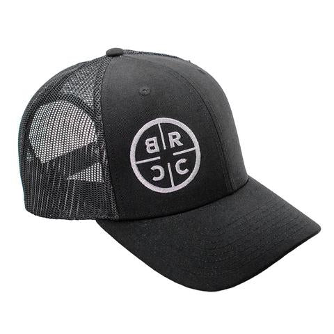 BRCC Trucker Hat - Black with Black mesh - Black on Black